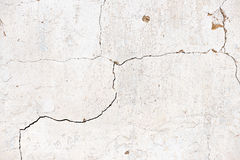 Old, grungy white background of natural plaster wall surface. Stock Images