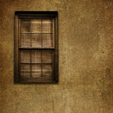 Old Grungy Window and Wall Stock Image