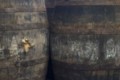 Old Grungy Wine Barrels Royalty Free Stock Photo