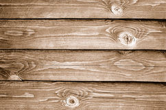 Wooden background. Old grungy wooden background. Sepia Royalty Free Stock Photo