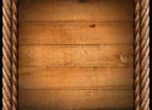 Old Grungy Wooden Boards And Ropes Royalty Free Stock Photos