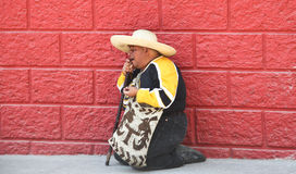 Old guatemalan man Royalty Free Stock Image