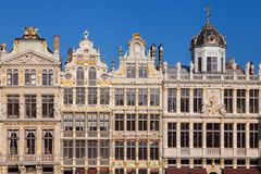 Old Guild Houses at the Grand Place Royalty Free Stock Photo