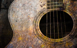 Old guitar Stock Photo