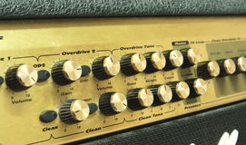 Old guitar amplifier Stock Image