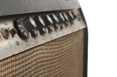 Old Guitar Amplifier Stock Photo