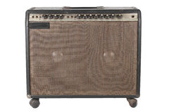Old Guitar Amplifier on White background Stock Photography