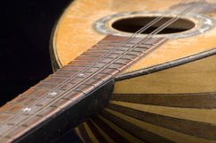 Old guitar closeup Royalty Free Stock Image