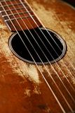 Old guitar detail Royalty Free Stock Photography