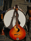 Old Guitar Instruments Music Royalty Free Stock Images