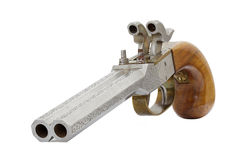 Old gun. Isolated on white background Royalty Free Stock Photography
