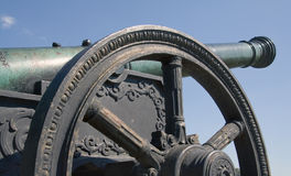 Old gun. Russian gun of the 18th century royalty free stock photography
