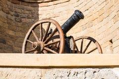 Old gun. Baku city Stock Image