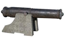 Old gun from coastal battery Stock Photography