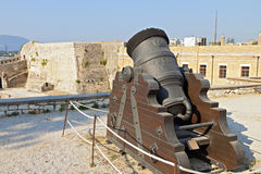Old gun at Corfu island in Greece Royalty Free Stock Image