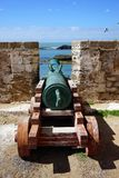Old gun in fort Stock Photo