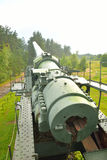 Old gun in Fort Krasnaya Gorka. Stock Photography