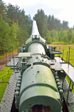 Old gun in Fort Krasnaya Gorka. Royalty Free Stock Photography
