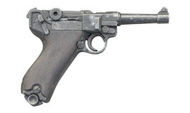 Old gun isolated Stock Image