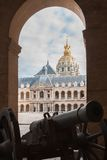 Old gun in museum Les Invalides, Paris Royalty Free Stock Photo