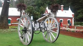 Old gun in ooty royalty free stock images