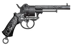 Old gun with ornament Stock Photography