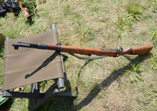 Old gun resting Stock Photo
