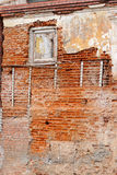 Old gungy wall with immured window Stock Photography