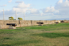 Old Guns on Acre Walls. Old guns on the city wall of Acre, Israel Stock Photography