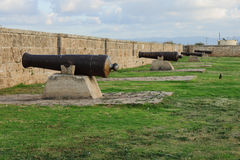 Old Guns on Acre Walls. Old guns on the city wall of Acre, Israel Royalty Free Stock Images