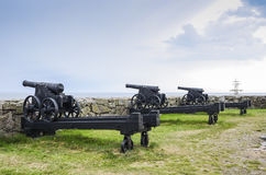 Old guns at Ertholmene Denmark Stock Image