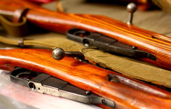 Old guns. Gun rifle  weapons historical military background Royalty Free Stock Images