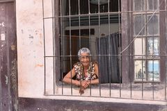 Old guns in Havana royalty free stock photo