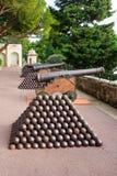 Old guns in Monaco-Ville Royalty Free Stock Image