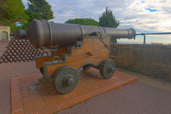 Old guns in Monaco-Ville Royalty Free Stock Photo