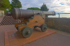 Old guns in Monaco-Ville Royalty Free Stock Photo