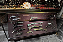 Old guns in museum of war. Pernambuco, Brazil, 2009. Old guns in museum of war royalty free stock image