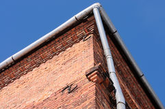Old guttering and downspouts Royalty Free Stock Photography
