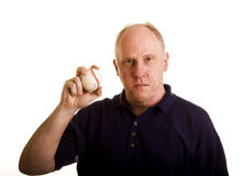 Old Guy with Baseball Royalty Free Stock Photos