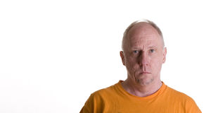 Old Guy in Orange T-Shirt Royalty Free Stock Photo