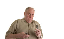 Old Guy with Tools Stock Photo