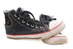 Old Gym Shoes Royalty Free Stock Image