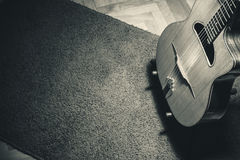 Old Gypsy Guitar Royalty Free Stock Image