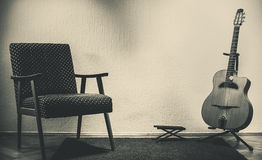 Old Gypsy Guitar Royalty Free Stock Images