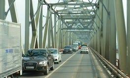 Old Ha Long Bay  Bridge. Old steel Bridge in Ha Long Bay, Vietnam Royalty Free Stock Photo