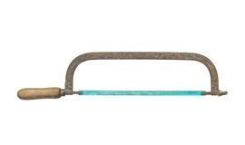 Old hacksaw isolated on white background Royalty Free Stock Image