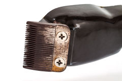 Old hair clipper isolated on white Royalty Free Stock Photo