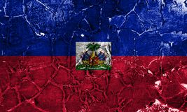 Old Haiti grunge background flag.  stock photography