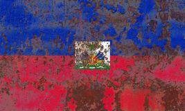 Old Haiti grunge background flag. Old flag stock images