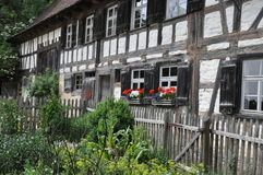 Old half timbered farm house Royalty Free Stock Photo